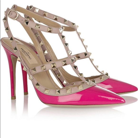 Valentino Garavani Shoes - Valentino garavani rock stud hot pink
